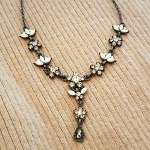 Crystal and enamel necklace
